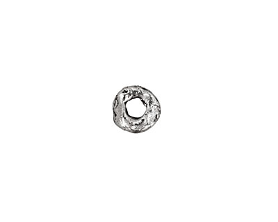 Rustic Charms Sterling Silver Small Dotted Spacer Disc 8mm