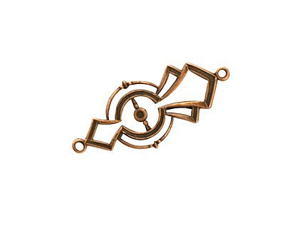 Stampt Antique Copper (plated) Half Past Midnight Deco Link 29x13mm