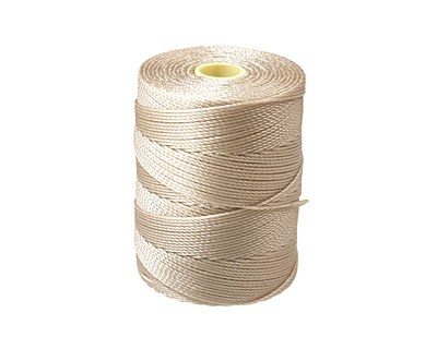 C-Lon Beige Fine Weight (.4mm) Bead Cord