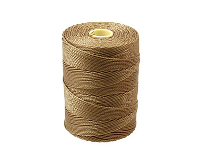 C-Lon Khaki Fine Weight (.4mm) Bead Cord