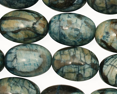 Mystic Blue Feldspath Rice 18x13mm
