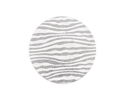 Lillypilly Silver Zebra Anodized Aluminum Disc 25mm, 22 gauge