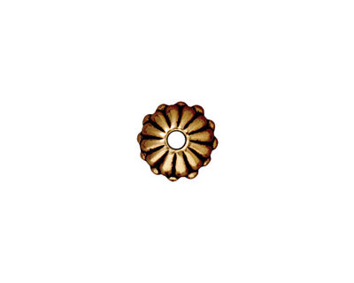 TierraCast Antique Gold (plated) Large Hole Joy Rondelle 6x10mm