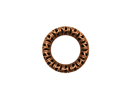 Stampt Antique Copper (plated) Filigree Wreath 17mm