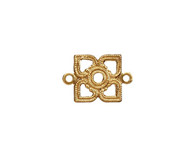 Brass Tiny Openwork Diamond Link 17x12mm
