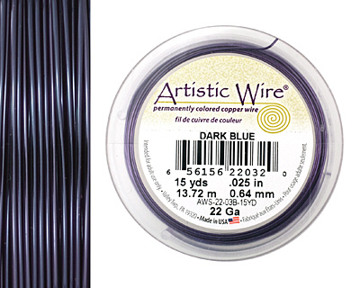Artistic Wire Dark Blue 22 gauge, 15 yards