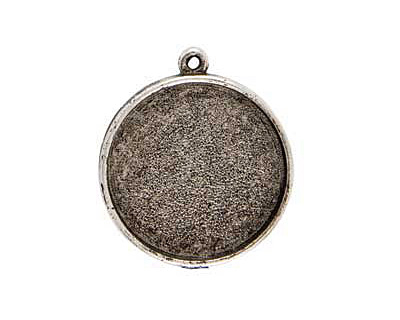Nunn Design Antique Silver (plated) Grande Circle Bezel Pendant 38x34mm