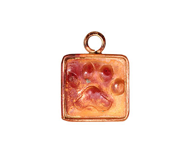 Patricia Healey Copper Paw Print Charm 17x22mm