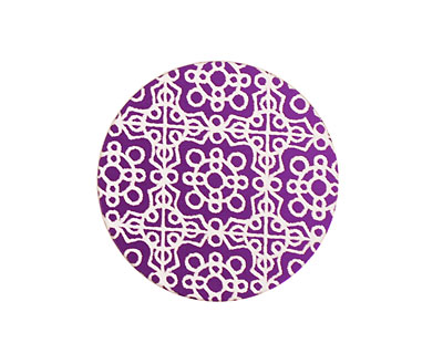 Lillypilly Purple Baroque Anodized Aluminum Disc 25mm, 24 gauge