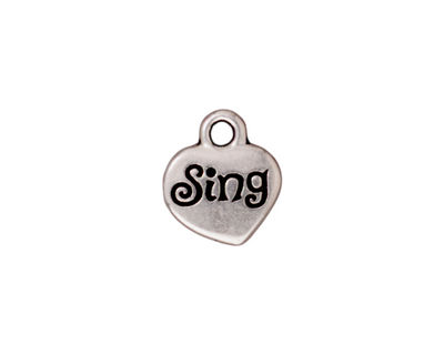 TierraCast Antique Silver (plated) Sing Charm w/ Glue In 12x13mm