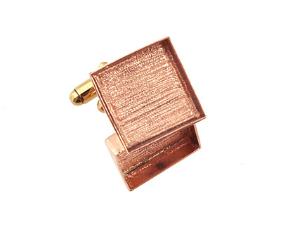 Copper Square Bezel Cuff Link 17mm