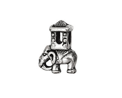 Pewter Traveling Elephant 15x20mm