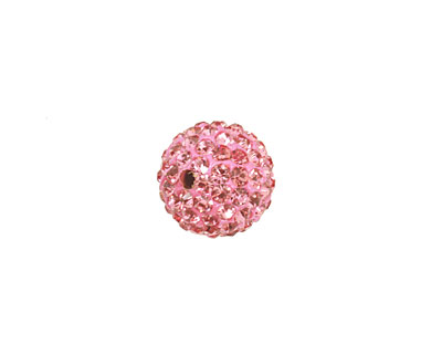 Flamingo Pave Round 12mm
