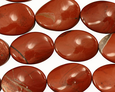 Red Jasper Twisted Oval 18x13mm