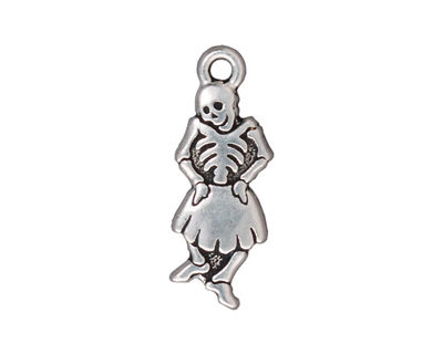 TierraCast Antique Silver (plated) Dancing Señorita 11x28mm