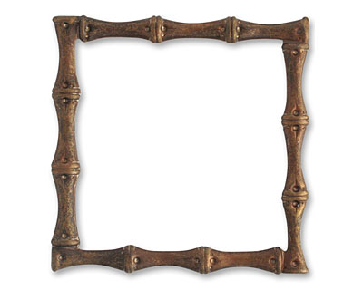 Vintaj Natural Brass Bamboo Frame 54mm