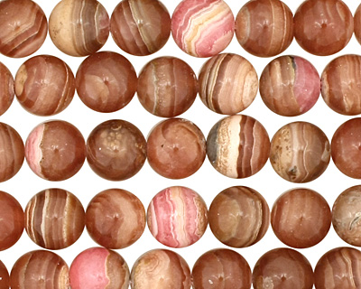 Brown Rhodochrosite Round 8-9mm