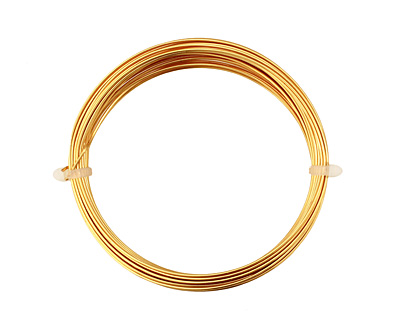 German Style Wire Gold (plated) Round 20 gauge, 6 meters