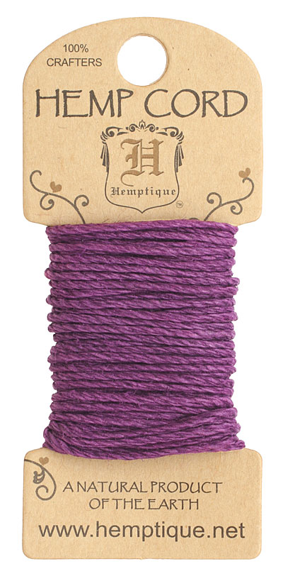 Dark Purple Hemp Twine 20 lb, 20 ft