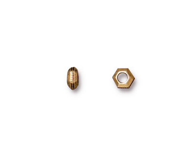 TierraCast Antique Gold (plated) Large Hole Faceted Heishi 5mm