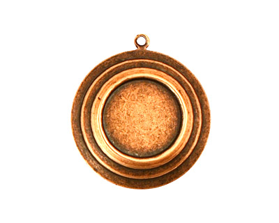 Stampt Antique Copper (plated) Stacked Circles Round Setting 13mm
