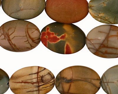 Red Creek Jasper Flat Oval 18x13mm