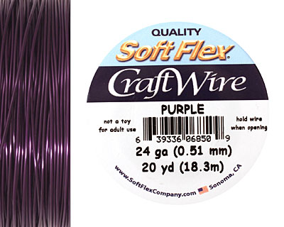 Soft Flex Purple Craft Wire 24 gauge, 20 yards