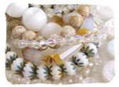 White & Clear Czech Glass Beads