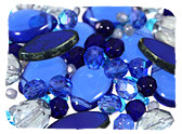 Blue Czech Glass