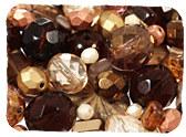 Brown Czech Glass Beads