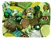 Green Czech Glass Beads