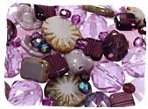 Purple Czech Glass Beads