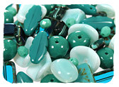 Turquoise & Teal Czech Glass Beads