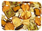 Yellow Czech Glass Beads