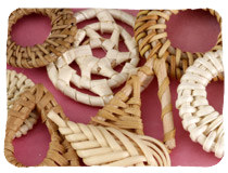 Wood, Rattan & Cork Charms & Pendants