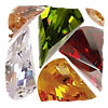 Faceted Fan Cubic Zirconia