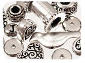 Silver & Rhodium Beads