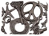 Gunmetal Charms & Pendants