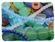 Recycled & Matte Glass Beads