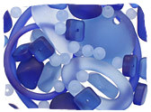 Blue Recycled Glass Beads