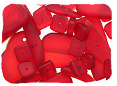 Red Recycled & Matte Glass Beads