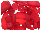 Red Recycled Glass Beads