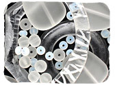 White & Clear Recycled & Matte Glass Beads