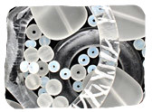White & Clear Recycled Glass Beads